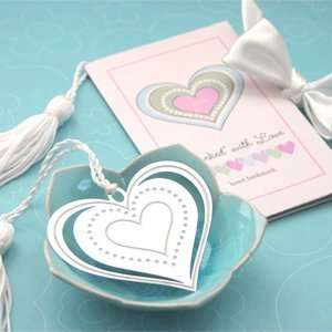 Marked with Love Heart Bookmark   Baby Shower Gifts & Wedding Favors