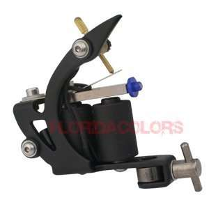 Stainless STEEL Shader Liner Tattoo Machine Gun Black