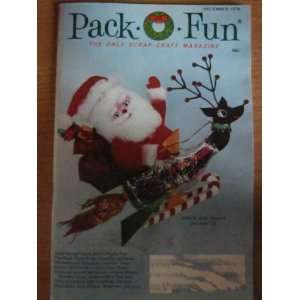 Pack o Fun Scrap Craft Magazine December 1974 Everything