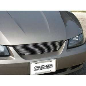MUSTANG BILLET GRILLE, CUT OUT ALUMINUM POLISHED W/O LOGO C/O   NO CUT