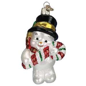 Old World Christmas Cutie Snowman Glass Ornament Snowman