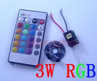 3W RGB LED Driver AC85V 265V + remote control DIY light