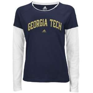 adidas Georgia Tech Yellow Jackets Ladies Navy Blue