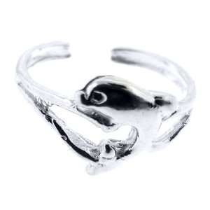 925 Sterling Silver Toe Ring Dolphin Jewelry