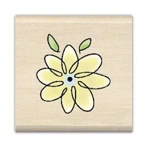 Inkadinkado Wood Mounted Stamp SINGLE FLOWER (96666 gg