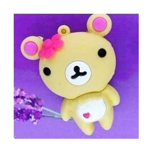 4GB Cute Bear with Pink Heart style USB flash drive
