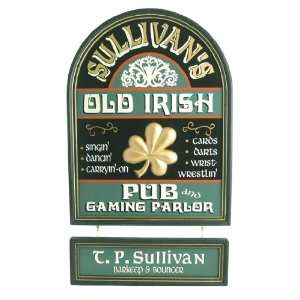 Personalized Wood Sign   Old Irish Pub