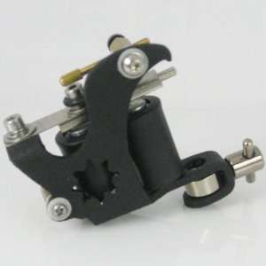 Jet Black Star Tattoo Machine, 8 Wrap Tattoo Gun with Free Tattoo Tube