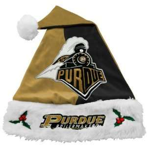 Purdue Boilermakers Gold Black Mistletoe Santa Hat  Sports
