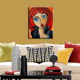 MODERN HUGE ABSTRACT PAINTING ORIGINAL FACE CONTEMPORARY WOMAN ART by