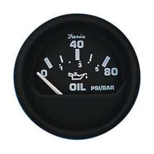 Faria 12803 Euro Black Oil Pressure Gauge Automotive