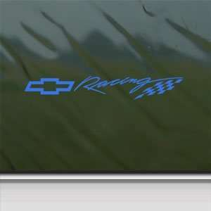 CHEVY BOWTIE RACING Blue Decal Car Truck Window Blue Sticker