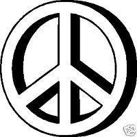 Peace Sign Vinyl Car Window Decal Bumper Sticker