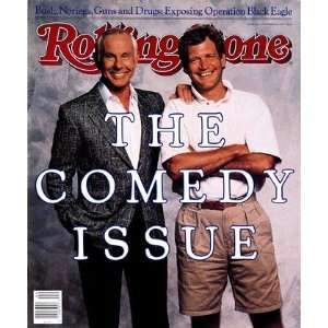 Johnny Carson and David Letterman, 1988 Rolling Stone Cover Poster by