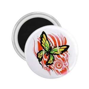 Tattoo Butterfly Fire Art Fridge Souvenir Magnet 2.25 Free