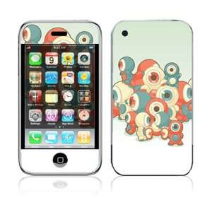 Apple iPhone 2G Vinyl Decal Sticker Skin   Round Eyes