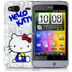 Ecell   WHITE & BLUE HELLO KITTY HARD CASE COVER FOR HTC