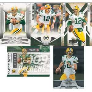 Aaron Rodgers 5 Card Gift Lot Containing One Each of His