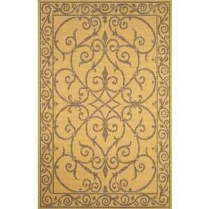 Terrace Wrought Iron Natural Indoor / Outdoor Rug Size 4
