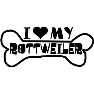I Heart My Rottweiler Car Decal Window Sticker Everything