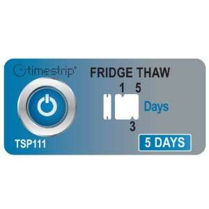 Timestrip 800 111 5 Day Fridge Thaw Food Time Indicator, (Pack of 25