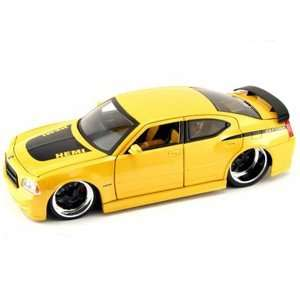 car 118 scale die cast by Jada Toys Bigtime Muscle   Metallic Yellow