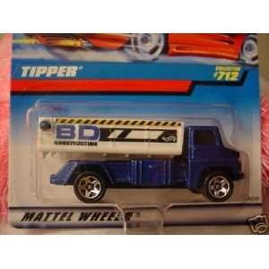 Hot Wheels 1998 164 Scale Blue Tipper Die Cast Truck Collector #712
