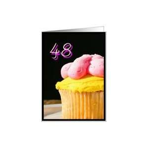 Happy 48th Birthday muffin Card Toys & Games