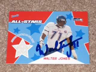 JONES AUTO SIGNED AUTOGRAPH SEATTLE SEAHAWKS JERSEY CARD HOFer