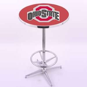 Holland Bar Stool Co. Ohio State University Chrome Pub