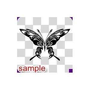 TRIBAL TRIBAL BUTTERFLY 43 10 WHITE VINYL DECAL STICKER