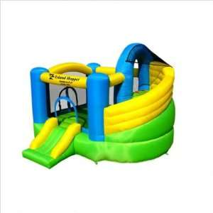 Lot Curved Double Slide Inflatable Bounce House Patio, Lawn & Garden