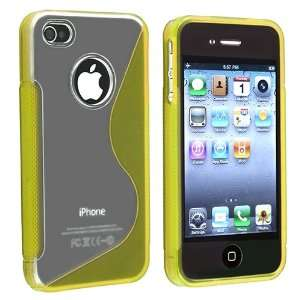 for Apple® iPhone® 4 4S, Clear / Frost Yellow S Shape Electronics