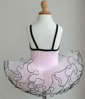 Pink Girl Birthday Party Leotard Ballet Tutu Skirt 3 8