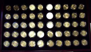 2008 COMPLETE SET OF 24K GOLD PLATED STATE QUARTERS WITH BOX