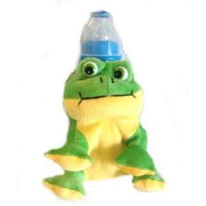 Green FROG insulated BABY BOTTLE HOLDER gift shower NEW