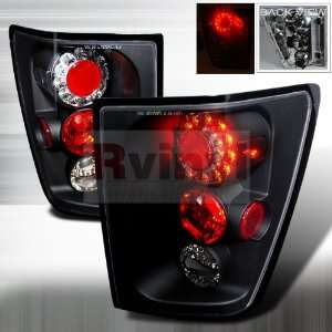Jeep Grand Cherokee 2005 2006 LED Tail Lights   Black