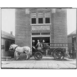 Horse drawn fire truck,Webster Groves Fire,St Louis,MO