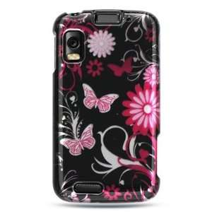 MOTOROLA ATRIX / MB860 CRYSTAL CASE PINK BUTTERFLY Cell