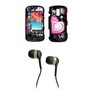 Samsung Rogue U960 Premium Black and Pink Heart Snap on