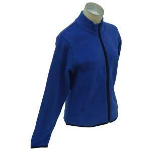 Sports Blue Polar Fleece Full Zip Jacket Size Medium