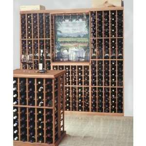Wine Rack with Display Row, Hanging Glass Rack & Table Top Wine Glass