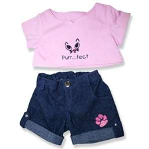 Purrfect Bear Outfit Teddy Bear Clothes Fit 14   18 Build a bear