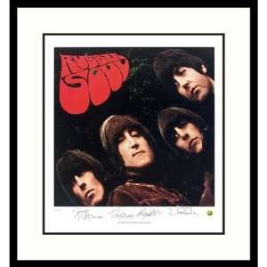 The Beatles Rubber Soul (album cover) Framed Print by