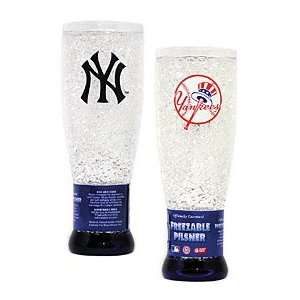 New York Yankees MLB Crystal Pilsner Glass Sports
