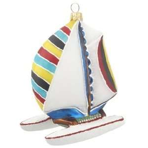 Personalized Catamaran Boat Christmas Ornament