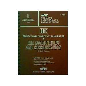 air conditioning and refrigeration By Jack Rudman (Occupational