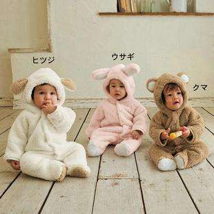 Boy Girl Baby Clothes Winter Animal Onesie Fleece Jacket Coat