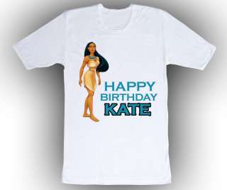 Personalized Pocahontas Birthday T Shirt Gift Add Name