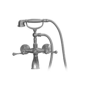 Handle Wall Mounted Tub Filler Faucet with Cradle,